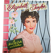 Elizabeth Taylor MGM Star photo cover Paper Dolls mint uncut 1954