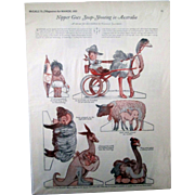McCalls Magazine Nipper In Australia paperdoll magazine page 1925
