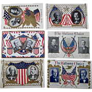 "Presidential ""Nations Choice"" campaign 6 different Bryan/Kern postcards 1908"