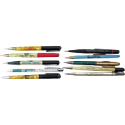 Advertising Mechanical Pencil lot of 10 different excellent condition