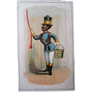 Original Black Americana Elkhart Paper Pail scarce trade card circa 1880-90's