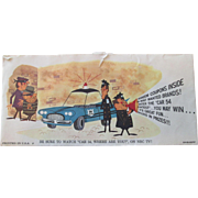 "Car 54 Television Show ""WHERE ARE YOU""  illustrated advertising envelope Proctor & Gamble 1962"