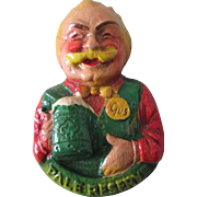 Vintage Old Reading Beer Old Gus Figural pin near mint condition 1950's
