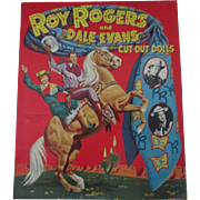 Roy Rogers Dale Evans mint uncut paper dolls and outfits copyright 1952