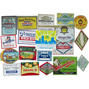 Vintage Soda Bottle Labels 100 different regional mint labels 1930's-1970's