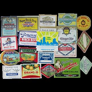 Vintage Soda Bottle Labels 100 different regional mint labels 1930's-1970's