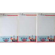 Early Star Brewery unused bar menu-lot of 10 sheets-1930's