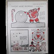 McCalls Magazine Santa's Magic Snowball paperdoll uncut magazine page 1924