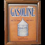 Automotive Gasoline sheet music circa 1880's-90's