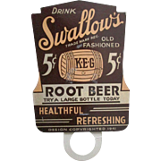 Swallows Old Fashioned Root Beer Topper 1940's