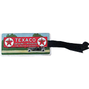 Texaco Gasoline & Motor oil Automobile early celluloid book mark memorandum 1920's-30's
