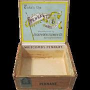 Take The Pennant Baseball Five Cent cigar box circa 1890's