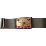 Cowboy Texas Rangers child's belt mint unused 1950's
