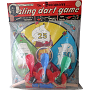 "Scarce TV Show ""The Buccaneers"" Sling Dart Game mint in package 1956-57"