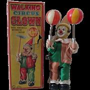 Walking Circus Clown near mint in box 1950's