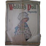 Walking Doll cut out set in original cello Playmate copyright 1926