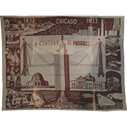 World's Fair Century Of Progress 1933 Scenic scarce wool blanket