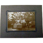 White House Coffee advertising promotional parade float photograph early 1900's