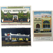 Kent Restaurants Atlantic City three different mint unused
