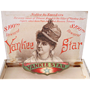 Yankee Star Tobacco box complete interior labels excellent condition
