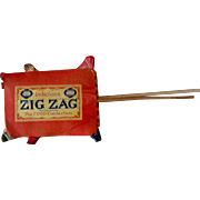 Scarce Zig Zag candy advertising store display early 1900