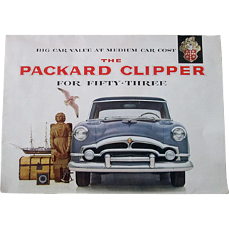 1953 Packard Clipper dealer full color promotional poster excellent condition