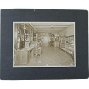 Early Country General Store cabinet card-early 1900's