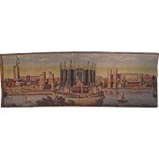 World's Fair Century Of Progress 1933 Scenic scarce woven tapestry near mint