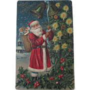 Early Santa Claus with toys embossed Christmas postcard 1907