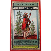 Bradley Fertilizer Company farming trade card 1880's-90's.