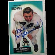 Mike McCormack National Football League HOF 1955 Bowman autographed card