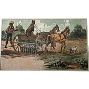 Black Americana Seed Planter Grower farm equipment trade card 1880-90's