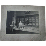 Early Country Store Candy and Tobacco cabinet card-early 1900's
