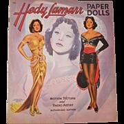 Vintage  scarce Hedy Lamarr movie star paper dolls mint uncut 1956