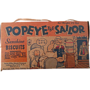 Popeye The Sailor Sunshine Biscuits box excellent 1936
