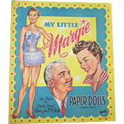 Vintage scarce Gale Storm My Little Margie TV show paper dolls mint uncut 1957