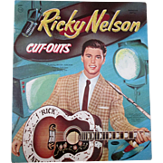Original Ricky Nelson uncut paper dolls and outfits-near mint condition 1959