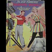 Vintage The Bob Cummings Fashion Models NBC TV Show paper dolls 1958