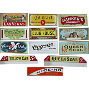 Tobacco embossed cigar labels lot of 13 different near mint early 1900's