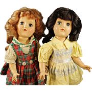 Pair of Toni - P90 - Hard Plastic Dolls