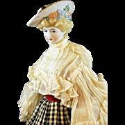 "Emma Clear ""Gibson Girl"" Parian Doll"
