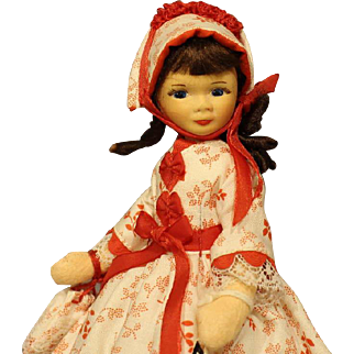 Old Cottage Doll - 'Little Girl In Party Dress'