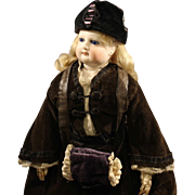 Antique French Fashion Doll with Hand Muff