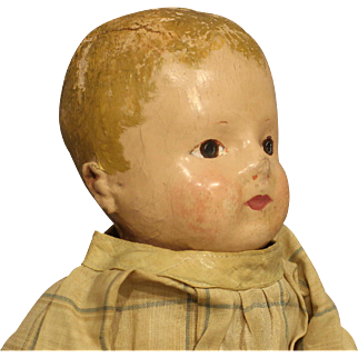 "Antique ""Rollinson"" Cloth Doll"