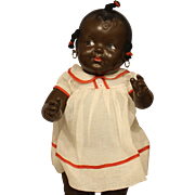 Vintage All Composition  Black  Baby  Doll