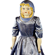 Antique German 'Blue Scarf'  Parian Doll