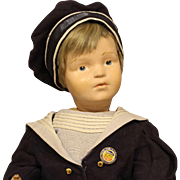 Rare Large Size (21 Inches) Antique Schoenhut Doll - dressed in a sailors outfit