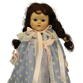 Vintage 'Ginny'  Doll with Blue Tagged Peignoir Outfit