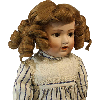 "Seldom Seen ""Dolly Dimples"" Antique German Bisque Doll by 'Gerbruder Heubach"