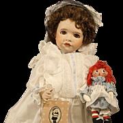 Wendy Lawton Doll - Marcella & Raggedy Ann - all bisque - MIB - 1989